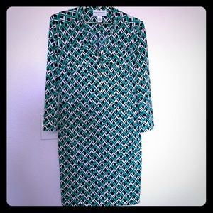 Donna Morgan | Women's Shift Dress Midi Patterned